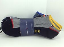 TOMMY HILFIGER Men's Bold Darks 65% COTTON Low Cut Socks, 6 Pack, $36 MSRP