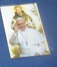 1 SANTINO magnete papa FRANCESCO  ART 7 in foto calamita SU LEGNO