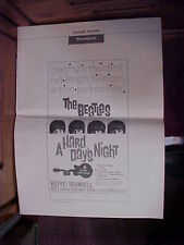RARE BEATLES 1964 ORIG THEATRE 12-pg PRESSBOOK A HARD DAY'S NIGHT (BEATLES14-13)