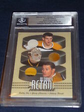 03-04 BAP Ultimate Retro Teammates Bobby ORR CHEEVERS BUCYK 6/30 Jerseys Pad