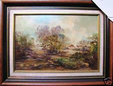 Norman Robins original oil titled 'Home Coming' Australia