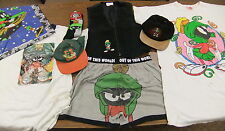 Marvin The Martian CLOTHING LOT Leather Vest, Hats, T-Shirts, Boxer Shorts Socks