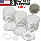 20Pcs Coin Storage Box Round Clear Plastic Case Capsules Container Holder 46mm <br/> WIDE SELECTION✅US STOCK✅FAST SHIPPING✅FREE SHIPPING✅