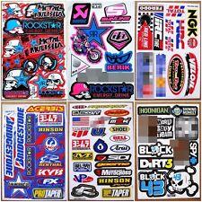 Motocross racing Nascar Dirt Bike Car Bike Turck Helmet Decal Stickers 6 sheets