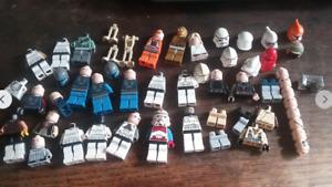 Star Wars lego mini figure spare parts job lot storm trooper mandalorian clone