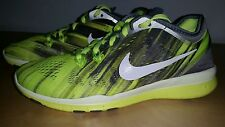 Nike Free Tr TR Fit 5 Running shoes Women's US 6 Grey Volt NEW $125