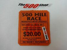 2000 Indianapolis 500 Mile Race Grounds Gate Admission Used Ticket