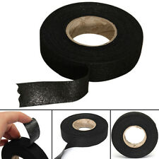 1Roll 19mmX15m Black Adhesive Cloth Fabric Tape Cable Looms Wiring Harness Tape