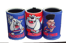 Western Bulldogs Premiership, Norm Smith Medal & Mascot 3 Stubby Holder Set