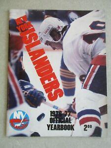 VINTAGE 1976-1977 NEW YORK ISLANDERS OFFICIAL YEARBOOK HOCKEY