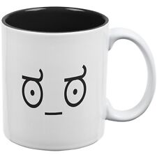 Look of Disapproval Emojicon White-Black All Over Coffee Mug
