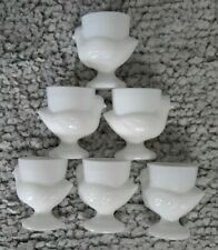 More details for 6 vintage french milk glass chick egg cups. immaculate, retro, trendy.