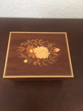 Lador Swiss Made Wood Inlay Music Box