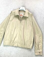 Men's BARACUTA G9 Harrington Bomber Coat Jacket England Beige Cotton SZ L Light