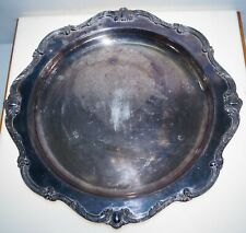 Antique Webster Wilcox International Silver Plate Rochelle Serving Tray 13""