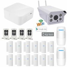 F18 APP WiFi Wireless Kits Home Security Burglar Alarm System+Ooutdoor IP Camera