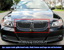 2006-2007 BMW 3-Series E90 Sedan Black Stainless Steel Mesh Grille Insert