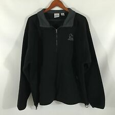 Duck's Unlimited 100% Polyester Black Men's Fleece Half- Zip Extra Large XL