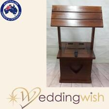 Wedding Wishing Well - timber square stained, rustic, engagement, card keeper
