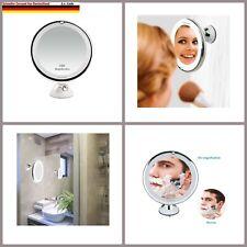 Auxmir Kosmetikspiegel LED Beleuchtet mit 10x Vergrößerung und Saugnapf, 360°