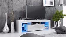 TV Lowboard  Boss130 Schrank Tisch Möbel, Sideboard weiß schwarz -Hochglanz LED*