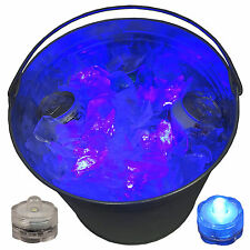BBQ Beer Bucket Tub Glow Lights LED Submersible Fun Novelty Festive 12 Blue