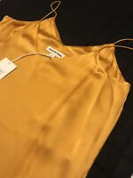 Womens Country Road Gold Satin Strappy Cami Top BNWT Sz 8