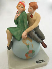 """Norman Rockwell Numbered Archive Collectable Boy/Girl """"First Love"""" 6x4.5x4""""1.2Lb"""