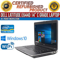 "C Grade Dell Latitude E6440 14"" Intel i5 8 GB RAM 500 GB HDD Win 10 WiFi Laptop"