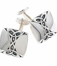 BRAND NEW, CASED, SOLID STERLING SILVER CELTIC STYLE CUFFLINKS. REDUCED £10 OFF!