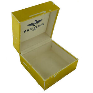 GENUINE BREITLING 1884 YELLOW AND WITHE SUEDE INTERIOR WATCH BOX