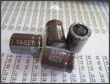 YAGEO Elko Kondensator radial 33 µF 450 V 105° ca.16x20mm RM 7,5  4 Stück