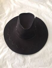 Black Wild Western Cowboy Hat Cowgirl Hat Fancy Dress Costume Outfit Accessory