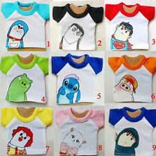 9 Cute Cartoon Character Lovely T-shirt/Top For 1/6 1/8 YOSD BB BJD Doll Clothes