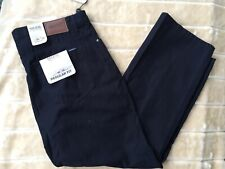 NWT MAINE Mens Corduroy Smart Casual Trousers Navy Blue Size 40X31 B26