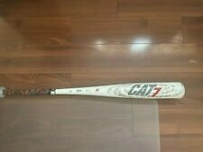 "Marucci  Cat7 30in./22oz Alloy Baseball Bat - White/Red. 2 5/8"" barrel. USSA"