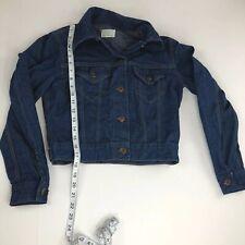 Vintage Sears Jr Bazaar Denim Blue Jean Jacket Size 9