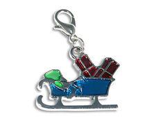 Enez Anhänger Dangle Charms Charm Weihnachtsmann-Schlitten (2,5 x 2,0cm) r2029