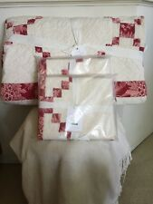 Pottery Barn Andover Patchwork Full/Queen Quilt & 2 Euro Shams Nwt