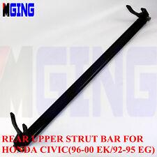 Rear Upper Strut Brace Bar Fit For Honda Civic 92-95 / EG / 96-00 / Ek  Black