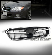 HOOD UPPER GRILLE REPLACEMENT GRILL BLACK/CHROME SHELL FOR 05-07 SUBARU LEGACY