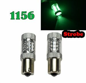 Strobe Rear Signal Light 1156 BA15S 7506 1141 P21W 80W Green LED Bulb M1 GM MA