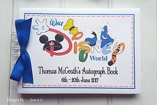 PERSONALISED DISNEY AUTOGRAPH BOOK * SCRAPBOOK MEMORY ALBUM - BOY & GIRL DESIGN