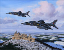 SEPECAT Jaguar 14 Squadron RAF Germany Jet Aircraft Art Painting Print