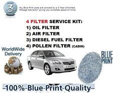 für Toyota Avensis 2.0DT D4D 2003-2005 Öl Luft Benzin Pollenfilter Service Kit