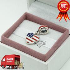Pandora, USA Herz Flagge Anhänger Charm 791548 ENMX