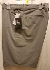 Men Shorts color grey flannel ..55% cotton.. 35% Polyester .. 10% elastane