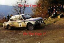 Bjorn WALDEGARD BMW 2002 RAC RALLY 1973 Photographie 2