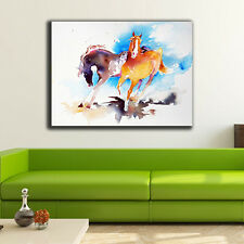 60×80×3cm Watercolor Horse Canvas Print Framed Wall Art Home Decor Painting Gift
