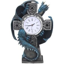 Stunning Anne Stokes Dragon and Cross Desk Mantel Clock ~ Draco